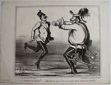 DAUMIER LITHOGRAPHIE ORIGINALE TIRAGE SUR BLANC, ACTUALITÉS N° 77, 1859