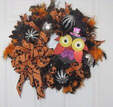 HALLOWEEN OWL Door Wreath