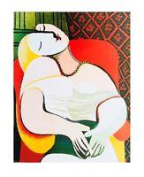 Pablo Picasso Der Traum Poster Kunstdruck Bild 50x40cm