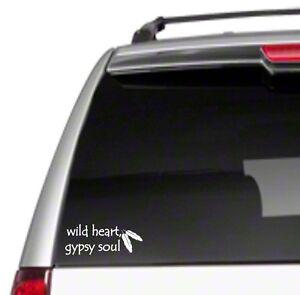 "Wild Heart Gypsy Soul Arrows 8"" Car Vinyl Sticker Decal vintage free spirit *G11"