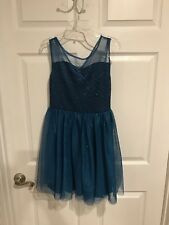 Girls Speechless Dress Size 12 Teal Sparkle