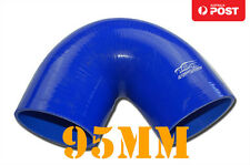 "4PLY Silicone 135 Degree Elbow Hose Pipe 95mm 3.75"" 3-3/4"" Blue"