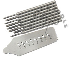 8 PCS MINI TAP DIE SET TAPS SCREW PLATE 0.6 -1.2 MM WIRE THREADING HOLE TAPPING