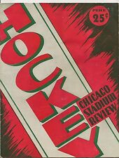 1947-48 Chicago Black Hawks-Red Wings Program Wings Clip Hawks!!
