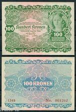 AUSTRIA HUNGRIA 100 kronen 1922 Pick 77  SC / UNC