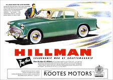 HILLMAN MINX RETRO A3 POSTER PRINT FROM CLASSIC 50's ADVERT