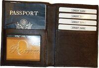 New Soft Leather passport case billfold wallet credit ATM card ID billfold bn.