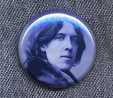 Oscar Wilde Pin Button Badge - Classic Cool