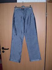 Glänzende Damen Jeans Hose gerades weites Bein Blau Grösse 36  L34 neu