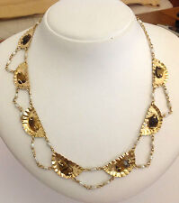 GIROCOLLO IN ORO GIALLO 18KT CON OCCHIO DI TIGRE - 18KT SOLID GOLD NECKLACE