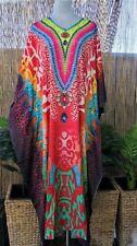 Plus Size Embellished Satin Like Kaftan Long Maxi  Size 16-18-20-22-24