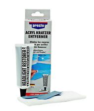 Presto Acryl-Kratzer-Entferner Set 50 g Scheiben & Scheinwerfer Politur 430114
