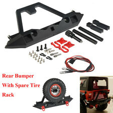 Metal Rear Bumper W/ Spare Tire Rack LED light For TRAXXAS TRX-4 TRX4 1/10 RC #A