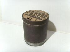 More details for vintage c1920s plain round ration tin sealed