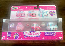 Shopkins Cutie Diecast Cars 3 Pack Exclusive Tea Brake Collection & Mini Figures