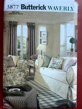 Butterick Pattern 3877 WAVERLY DRAPES, SLIPCOVERS window treatments home decor