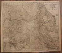 """Kupferstichkarte Hondius """"Totius Rheni abeius capiti..."""" um 1630 Rheinland sf"""