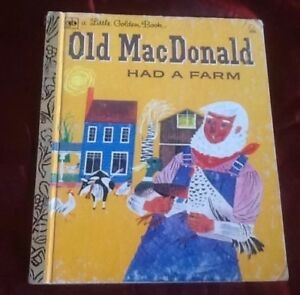 OLD MACDONALD HAD A FARM little golden book #400LGB 1976
