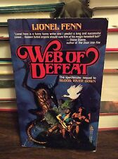 Web of Defeat by Lionel Fenn (Charles L. Grant), PB, 1987, First Printing
