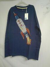 Boden boys super stitch rocket shirt tee 9-10 years space