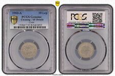 CRETE GREECE - RARE 10 LEPTA XF COIN 1900 YEAR KM#4 PCGS GRADING