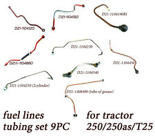 Belarus tractor fuel lines (tubing set 9PC) 250/250as/250A/T25/310/3000