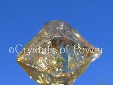 ONE POWERFUL CHAMPAGNE AURA HERKIMER DIAMOND QUARTZ CRYSTAL! FROM HERKIMER NY!