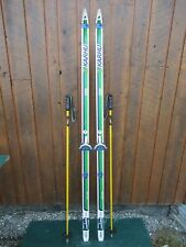 """GREAT Ready to Use Cross Country 73"""" KARHU  190 cm Skis + Poles"""