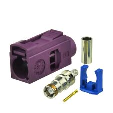 10x Fakra crimp Jack Female connector Violet Car GSM Cellular phone cable RG174