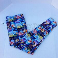 Disney Parks Vhs Print Little Mermaid Lion King Aladdin Leggings Size S-2X