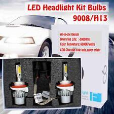 2X COB H13 9008 LED Headlight Fit Dodge Ram 1500 2500 3500 2006-2012 Hi Lo Beam