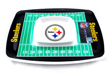 """Pittsburgh Steelers Melamine Chip & Dip Tray NFL Licensed 17"""" x 12"""" Free Ship"""