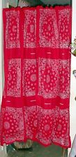 """Bandana Hanky  Design Curtains 42""""  Wide 63"""" Long, Made in the USA"""