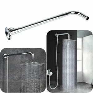Stainless Steel Bathroom Wall Mounted Shower Arm Head Extension Pipe Kit