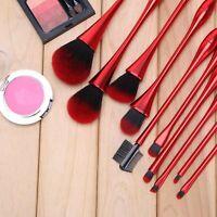 Kit 10Pcs Professionnel Cosmétique Pinceaux Brosse à Maquillage Makeup Brush Set