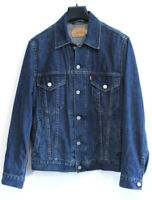 LEVI STRAUSS & CO 72510 Men's Jean Jacket Size 36 S Blue Cotton Denim sv0746