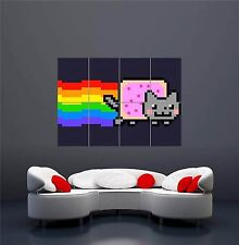 Nyan cat pixel rainbow nouveau giant wall art print picture poster OZ371