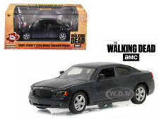 """DARYL DIXON'S 2006 DODGE CHARGER POLICE """"THE WALKING DEAD"""" 1/43 GREENLIGHT 86505"""