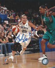 BECKY HAMMON AUTOGRAPHED 8x10 WNBA LOGO PHOTO AUTHENTIC LIBERTY STARS
