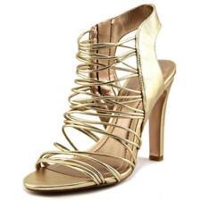 Sandalias y chanclas de mujer de tacón alto (más que 7,5 cm) de color principal oro talla 40