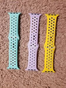 3 PACK Silicone Sport Band Strap for Apple Watch 6 5 4 3 SE iWatch 38/42/40/44mm