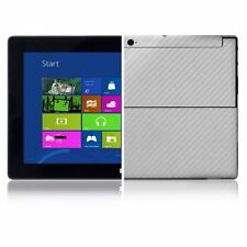 Skinomi Carbon Fiber Silver Skin+Screen Protect for Microsoft Surface Windows RT