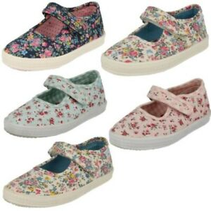 Girls Startrite Canvas Casual Pumps Posy