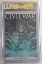 CIVIL WAR #3 CGC SS 9.6 SIGNED BY ED MCGUINESS MARVEL COMICS VARIANT COVER