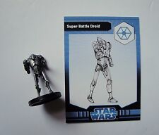 Star Wars Miniatures RPG Game Super Battle Droid 2/6 Rebel Storm Figure & card