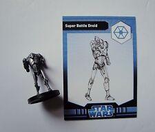 Star Wars Miniatures RPG Game Super Battle Droid 2/6 Rebel Storm Figure & card