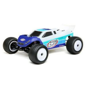 Losi 1/18 Mini-T 2.0 2WD Stadium Truck Brushless RTR (Blue) - LOS01019T2
