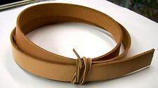 "Belt Blank 9 oz Cowhide 1"" Leather Veg Tanned Various Lengths 56"" Plus"