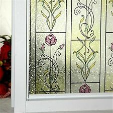 "Window Film Stained Glass decal Decorative Anti UV Bedroom Bathroom 17.7"" x 78.7"