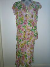 M & S Vibrant Easy Care Top and Matching Cruise/Party Skirt by Per Una Size 12
